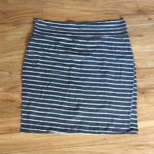Gray and White Striped Rue 21 Skirt